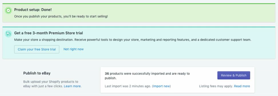 Quick Start To Selling On Ebay From Shopify Ebay Connect Support